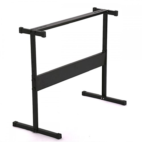 New Black Adjustable Height Electronic Music Keyboard Piano H Stand H38