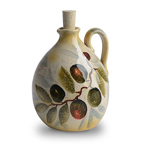 Italian Dinnerware – Large Olive Oil Cruet – Handmade in Italy from our Extra Virgin Collection