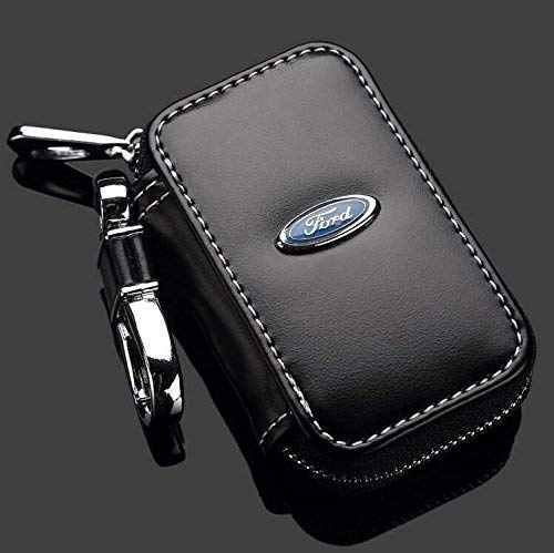 (Leather Car Key Case Remote Control package Auto Key Chains(Ford))