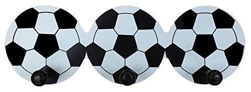 Headbourne Childrens Soccer Ball Hook Rail/Coat Rack with 3 Hooks by Headbourne