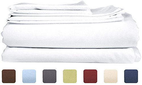 King Size Sheet Set - 6 Piece Set - Hotel Luxury Bed Sheets - Extra Soft - Deep Pockets - Easy Fit - Breathable & Cooling Sheets - Wrinkle Free - Comfy - White Bed Sheets - Kings Sheets - 6 PC - Discount King Size Beds