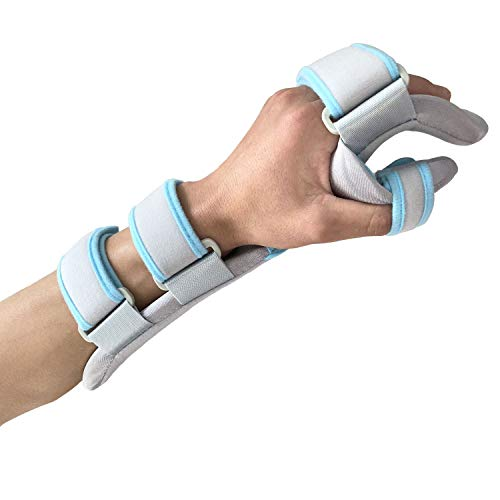 Hand Splint Functional Resting Wrist Support Moderate Stabilizing Brace for Carpal Tunnel, Tendinitis & Inflammation, Hand/Wrist/Thumb Immobilization, Forearm Wrist Splint, Left