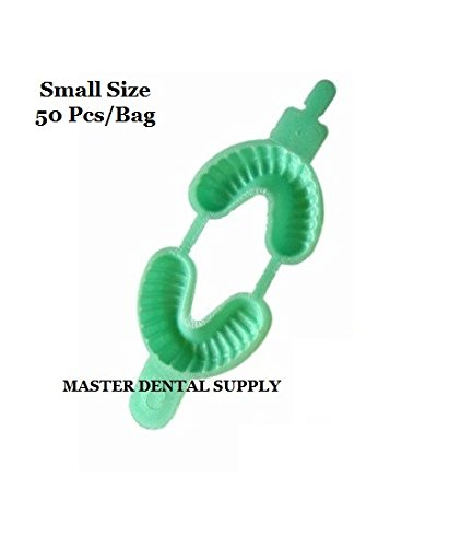 50 Dental Fluoride Trays Dual Arch SMALL LGIHT GREEN Color Coded