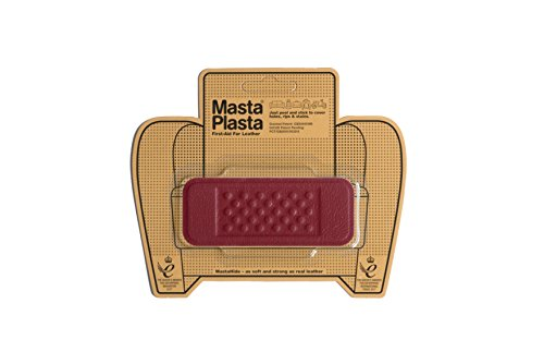MastaPlasta, Leather Repair Patch, First-aid for Sofas, Car Seats, Handbags, Jackets, etc. Red Color, Bandage 1.5-inch by 4-inch, Designs Vary