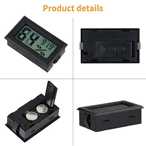 Digital LCD Raumthermometer Luftfeuchtigkeitsmesser Luftfeuchtemesser Rund 4stk
