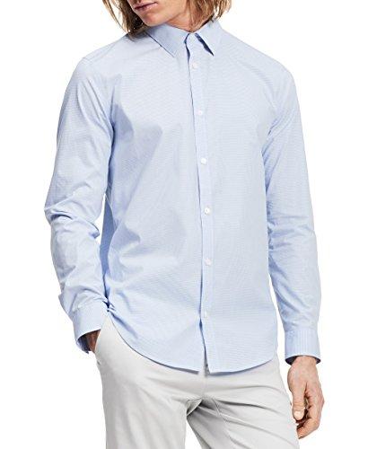 Calvin Klein Men's Check Long Sleeve Non-Iron Button Down...
