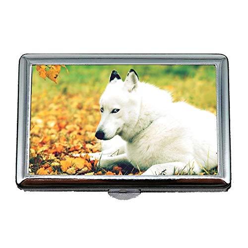 Steel Cigarette Case Metal Box,Terrier Yorkie Dog,Credit Card - On Wallet Hermes Dog
