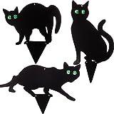 PestExpel Set of 3 Black Cats - Bird Rodent Humane Scarers,Repeller Deterrent Garden