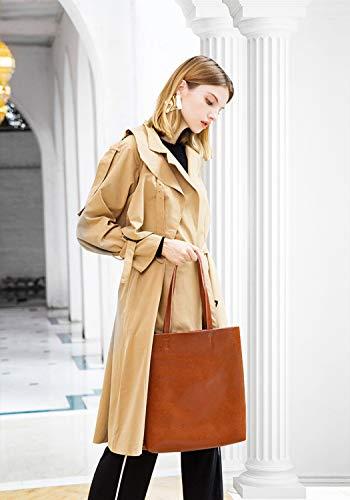 À Hjly Foncé Cuir Gris Provisions Leather Capacité Mobile Sac Sacs Simple Main Grande Cabas En TEHTqrg