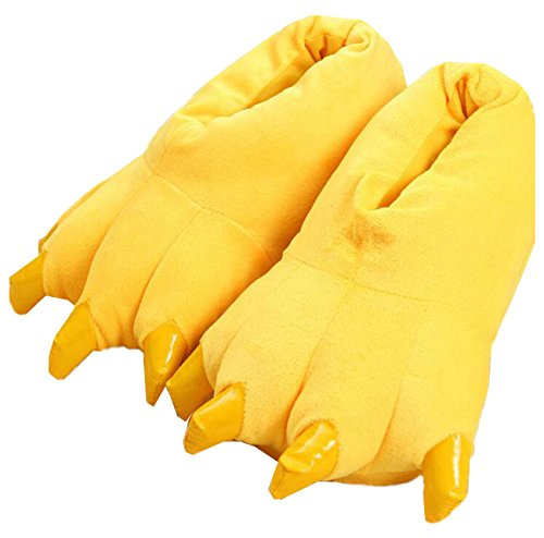 Peluche LANFIRE Claw Pantofole Animal Shoes Yellow Costume Peluche Unisex Paw OnZWwdn
