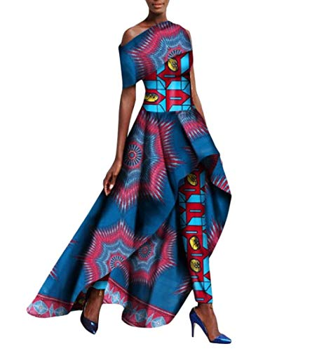 SportsX Women Dashiki Set Flexible Fit Long Pants Africa Waist Long Dress 9 5XL by SportsX