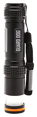Guard Dog Security Flare Lite 450 lm Long Range Flashlight to Lantern Magnetic Tail Cap, Black (Cap Swift Top)