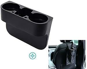 Car Drink Holder To Hold Hot & Cold Drink Preventing Spillage Bundle With Car Garbage Bag For Cleaner & Organize Car Interior With Adjustable Strap