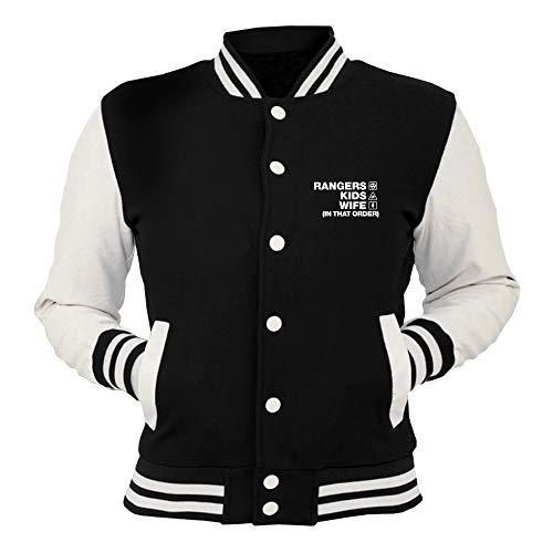 Rangers Order Wife Kids College Giacca Wc1456 Nera shirtshock T 80wzXX