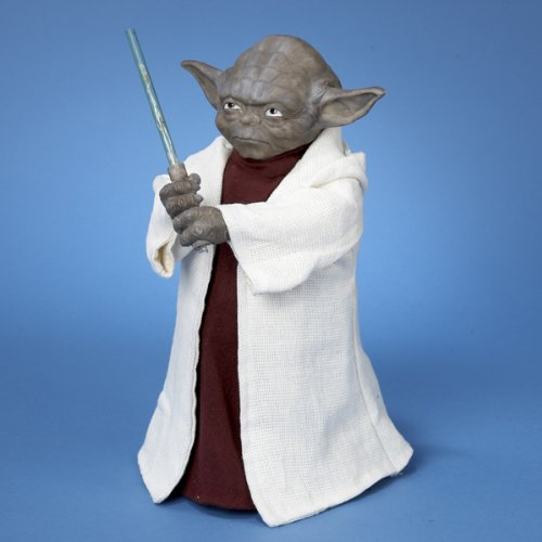 "12"" Star Wars Yoda with Light Saber LED Lighted Christmas Tree Topper"