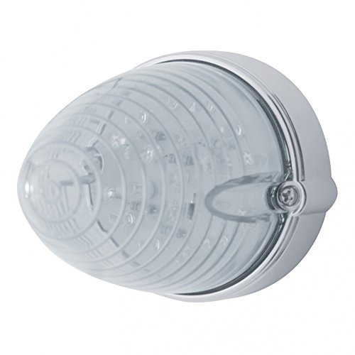 19 LED Marker/Auxiliary Light - Flush Mount w/ Clear Lens Beehive Style