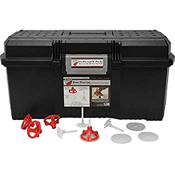 Image of Home Improvements Spin Doctor Tile Leveling Pro Kit 3/16': (200 Caps, 500 Bases, 100 Shields)