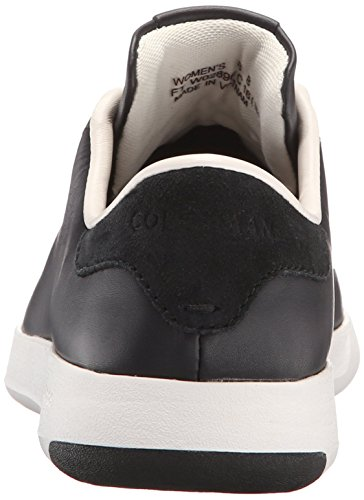Haan Black Cole Leather OX Fashion White Tennis Women's Optic Lace Grandpro Sneaker ZzUdzq