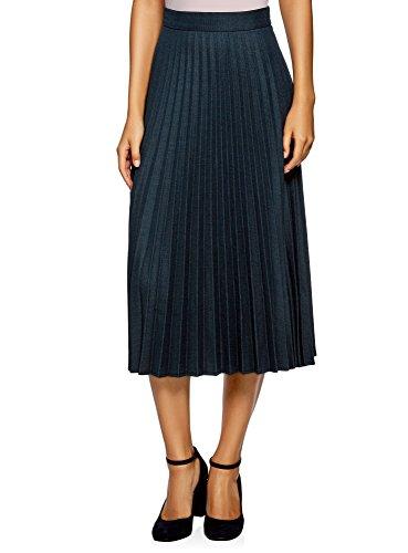 Collection Femme Longue oodji 2975g Bleu Jupe Plisse 0ZnxqfxO