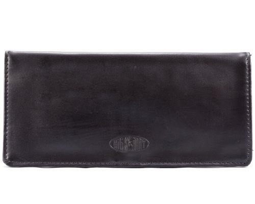 Big Skinny Women's Leather Executive Checkbook Wallet Black