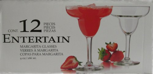Libbey Entertain Margarita Glasses 12 Pieces, 9 Oz by Libbey