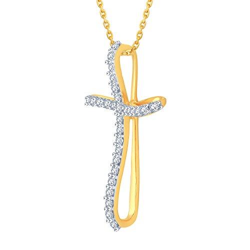 Giantti Diamant Pendentif Femme Collier (0,5ct, qualité HSI, Gh-colour)