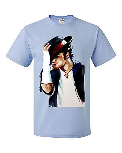 King Womens Light T-shirt - Palalula Women's Girls King of Pop Michael Jackson T-Shirt M190 Tribute T-Shirt XXXL Light-Blue