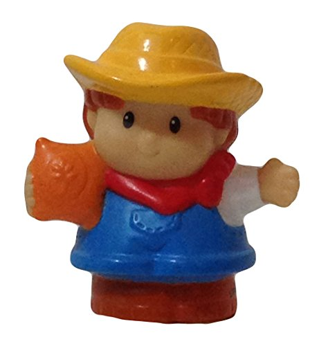 Little People Farmer (2005) - Replacement Figure - Classic Fisher Price Collectible Figures - Loose Out Of Package (OOP) - Zoo Circus Ark Pet Castle