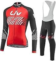 Women Cycling Jersey Suit MTB Bike Long/Short Sleeve + 5D Gel Bib Trousers