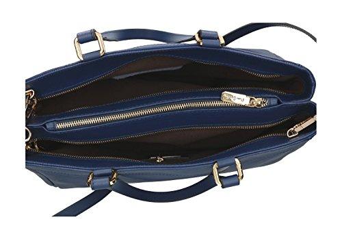 Borsa donna a mano con tracolla PIERRE CARDIN blu in pelle made in Italy VN809 Comprar Barato De Italia 0VY7ZfB
