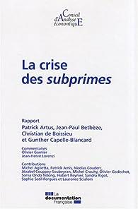 La crise des subprimes par Patrick Artus