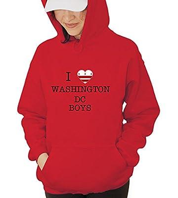 I Love Washington Dc Boys Hooded Sweatshirt