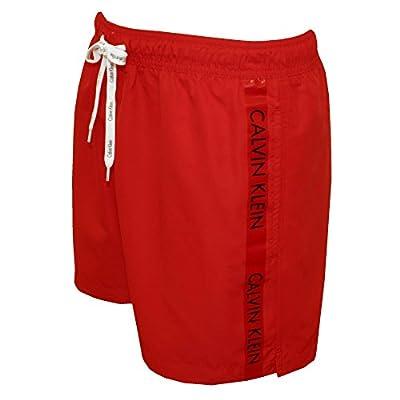 Calvin Klein Logo Tape Men's Swim Shorts, Racing Red