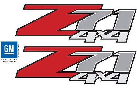 - Decal Mods Chevy Silverado Z71 4x4 Decals Stickers (dimensinos 12.5