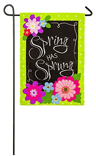 Enterprises Spring Evergreen - Evergreen Spring Has Sprung Double-Sided Burlap Garden Flag- 12.5