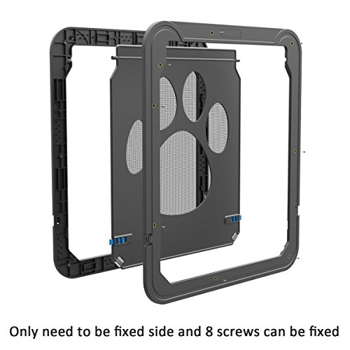 Modernlife Pet Screen Door, Magnetic Flap Screen Automatic Lockable Black Door Small Dog Cat Gate 10.2 x 8inch by Modernlife (Image #7)