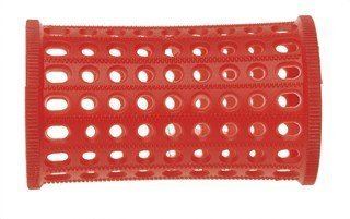 PLASTIC HAIR ROLLERS RED Pk10 x 40mm + FREE PINS Sibel 4600832
