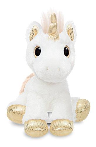 - Aurora World 60856 Sparkle Tales Star Unicorn Soft Toy, Gold, 12-Inch