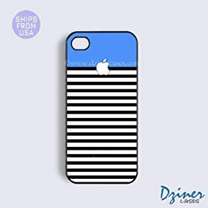 iPhone 4 4s Case - Blue Black White iPhone Cover