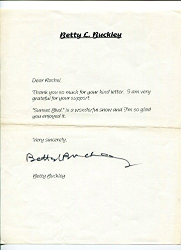 Betty Buckley Eight Is Enough Carrie Oz Theater HOF Rare Signed Autograph TSL from HollywoodMemorabilia