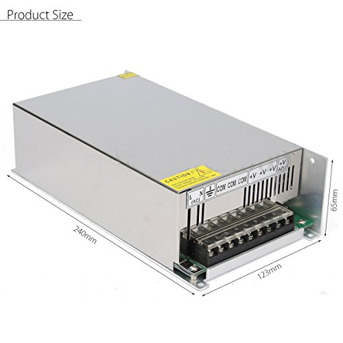 Xunba DC 12V 100A 1200w Power Adapter Driver Transformer 110V AC DC 12V Power Supply for Led Strip lamp CNC CCTV (SS1200-12)