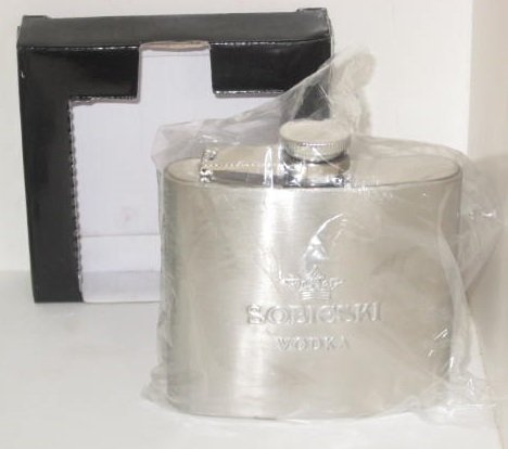 Sobieski Vodka Stainless Steel Hip 5oz ()