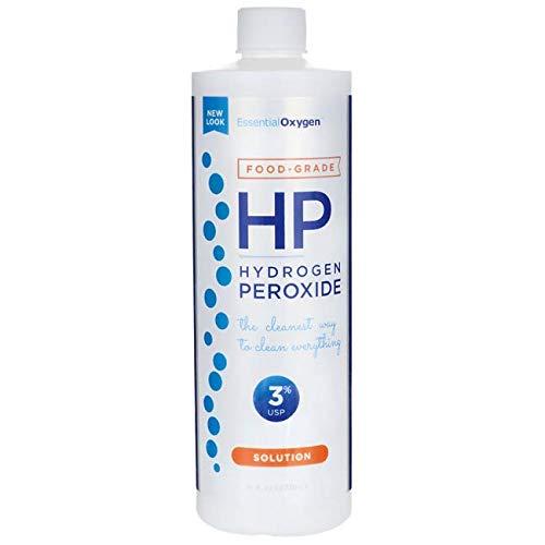 Gargle Hydrogen Peroxide - Essential Oxygen Plus Hydrogen Peroxide 3% Food Grade, 16 Ounce