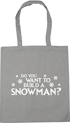Tote Build Shopping You 10 Bag Gym to HippoWarehouse Light x38cm a Beach Want 42cm Do litres Snowman Grey WFUnp80