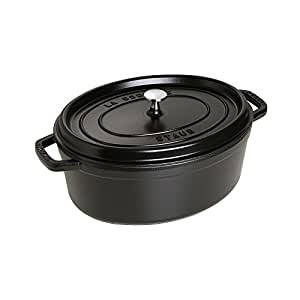 Staub 7 Quart Oval Cocotte, Black