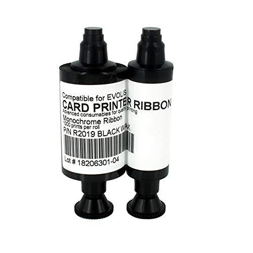 Xligo Compatible 1000Prints Black Ribbon for Evolis R2019 Pebble Series Dualys 3 Securion Card Printer Spare Parts