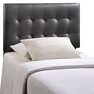 Modway Emily Upholstered Tufted Button Fabric Twin Size Headboard