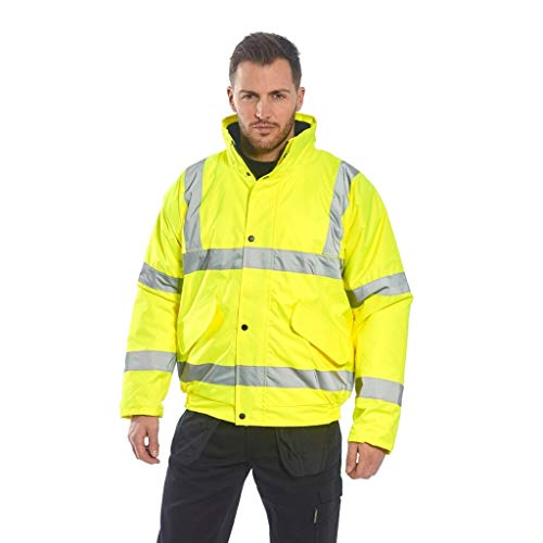 - Brite Safety Hi Vis Bomber Jacket For Men and Women - ANSI Class 3 Compliant High Visibility Waterproof Jackets (Yellow,7XL)