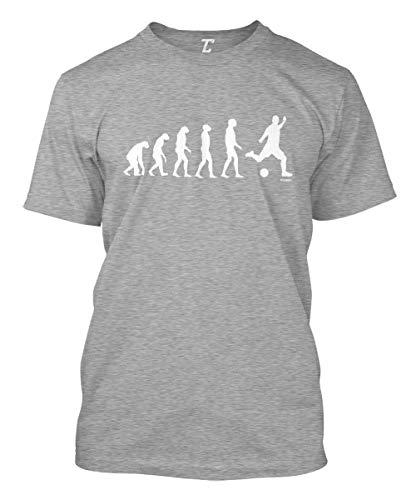 Evolution to Soccer - Futbol Sports Men's T-Shirt (Light Gray, X-Large)