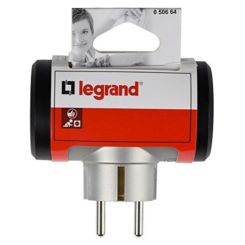 Legrand 50512 Adaptador Enchufe, Triple, Frontal, Negro: Amazon.es: Bricolaje y herramientas